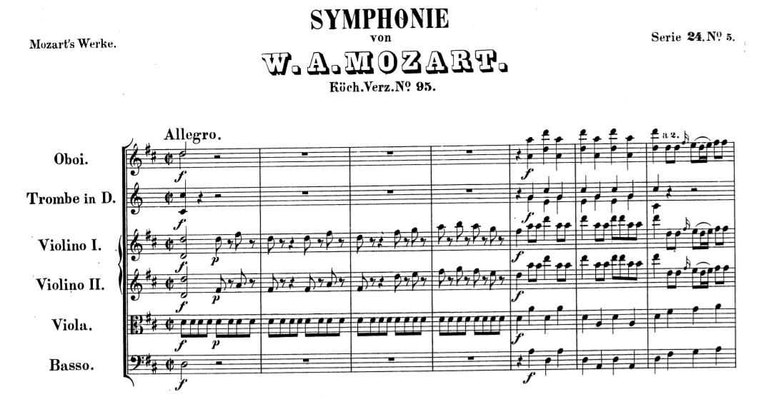 K 95 Sinfonia in re maggiore