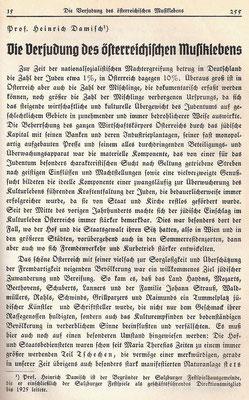 Damisch scrive sul Weltkampf, l'articolo sulla Giudeizzazione in musica, qui in immagine
