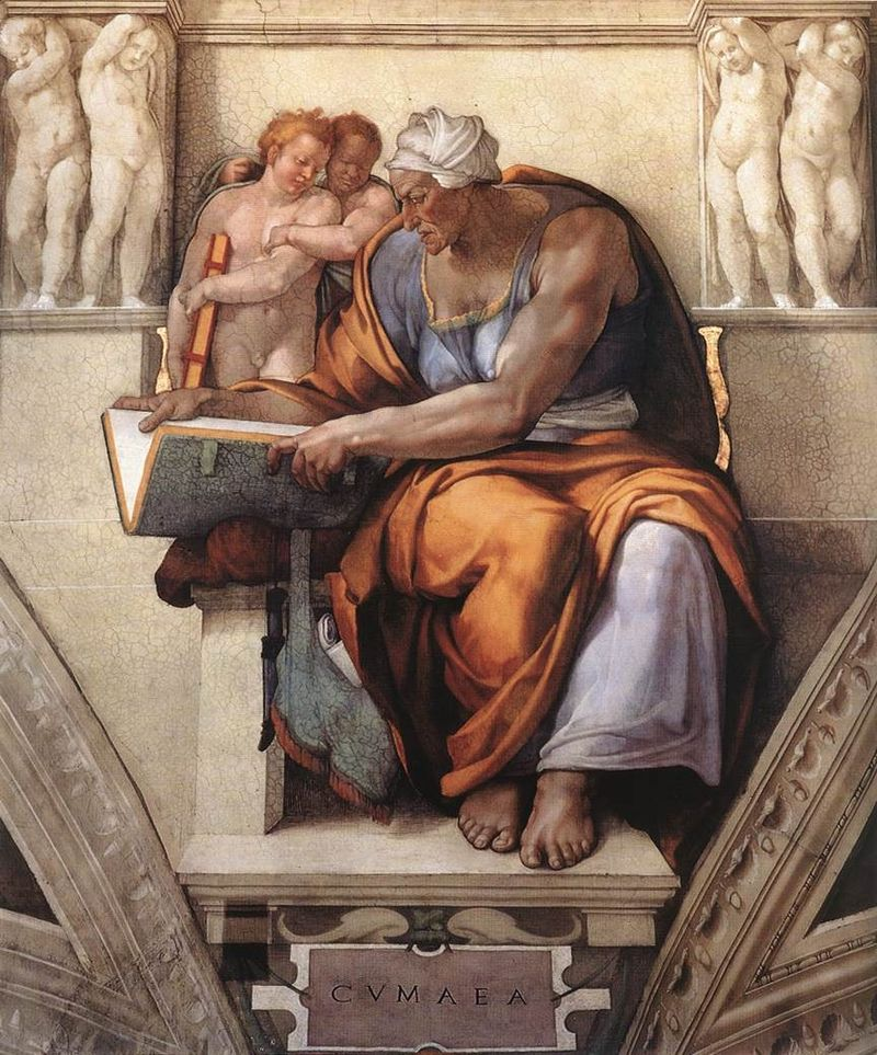 La sibilla Cumana di Michelangelo