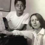 Carlos Gallegos con su Maestra Natalia Kovalenko