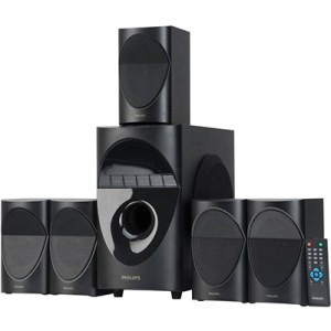 Philips SPA5190B 90 W Bluetooth Home Audio Speaker (Black, 5.1 Channel)