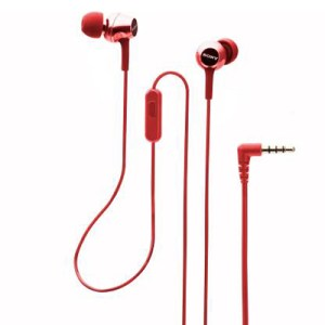 Sony EX155 Wired Headset with Mic (Red, In the Ear) Open Box