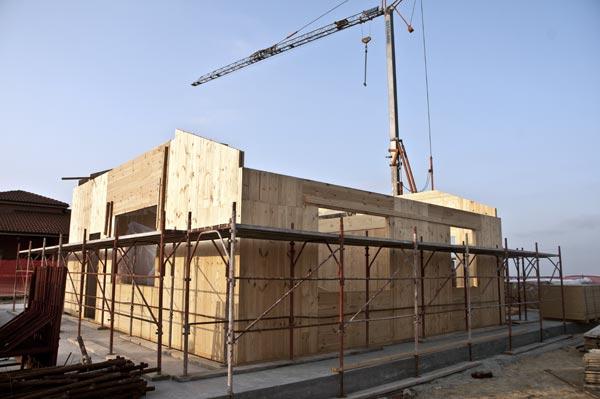 Pannelli in xlam, bbs pretagliati e assemblati per edilizia sotenibile