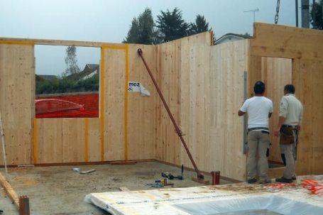 villetta buttigliera montaggio pareti legno bbs