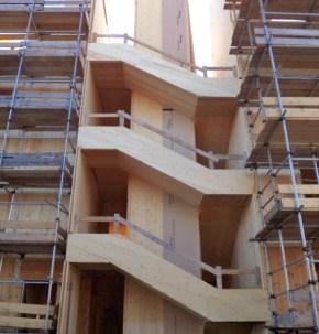 Condominio in legno 5 piani a Piossasco - scala 04