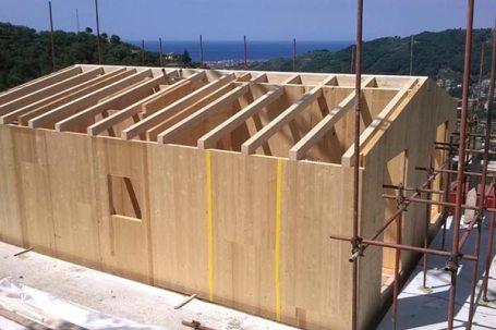 Costruzione casa in legno bbs in Liguria - Cogorno 08