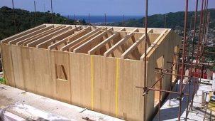 Costuzione casa in legno bbs in Liguria - Cogorno 01