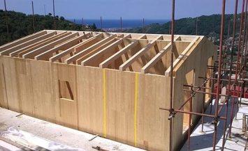 Villetta in legno BBS a due piani a Monticelli, Liguria