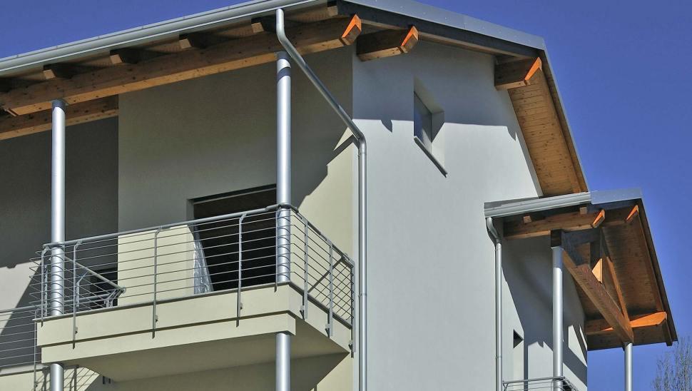 Biocondominio in legno x-lam bbs Piossasco - particolare facciata