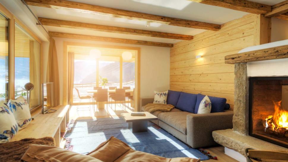 Interno di una casa in legno x-lam BBS