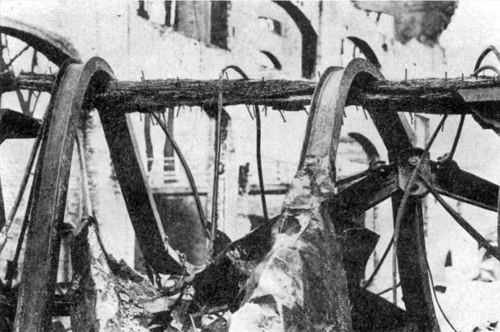 Legno e acciaio dopo un incendio