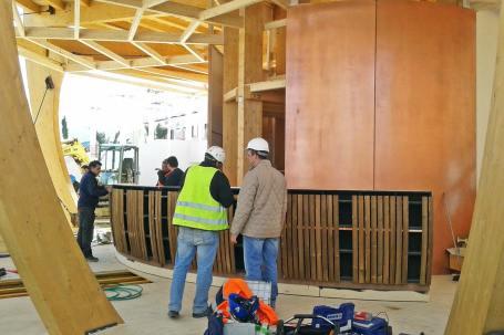 Cantiere Padiglione in legno birra Moretti Expo 2015 - Mozzone Building System 19