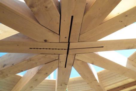 Cantiere Padiglione in legno birra Moretti Expo 2015 - Mozzone Building System 21