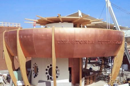 Cantiere Padiglione in legno birra Moretti Expo 2015 - Mozzone Building System 25