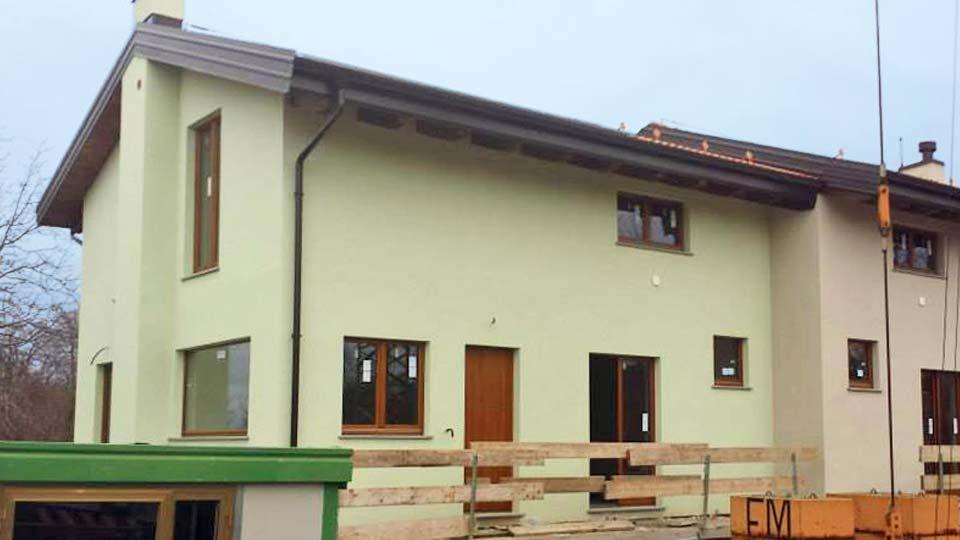 Casa in legno a telaio, 2 piani a Cervasca Cuneo - cantiere_01