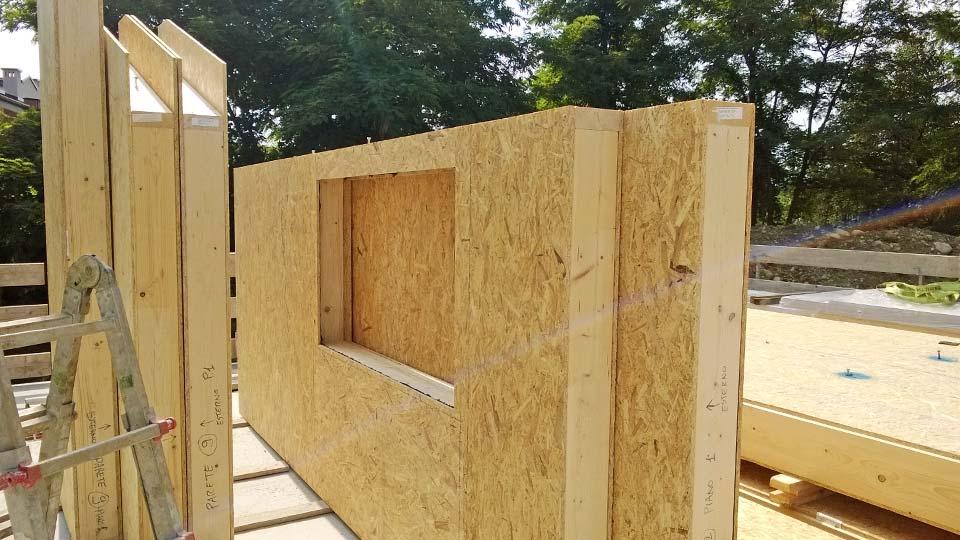 Bioedilizia: Casa in legno a telaio a due piani a Cervasca, Cuneo ...