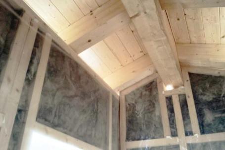 Cantiere casa a telaio in legno bioedilizia a Cremasca, Cuneo