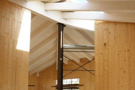 Cantiere villetta in legno x-lam BBS a Picchi Cherasco - soffitto 02