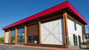 Capannone legno Salmour Cuneo - 15 esterno - Mozzone Building System