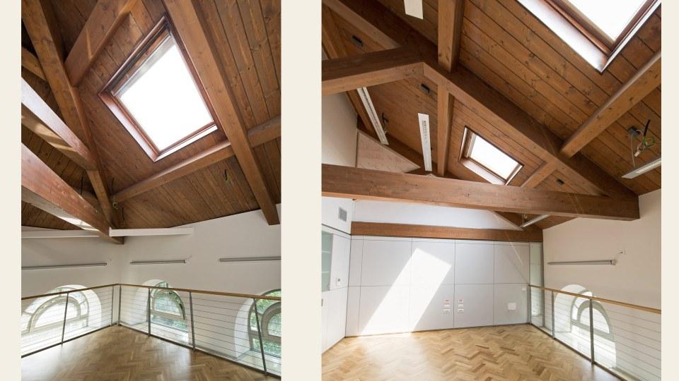 Tetto legno lamellare - Uffici Politecnico Milano