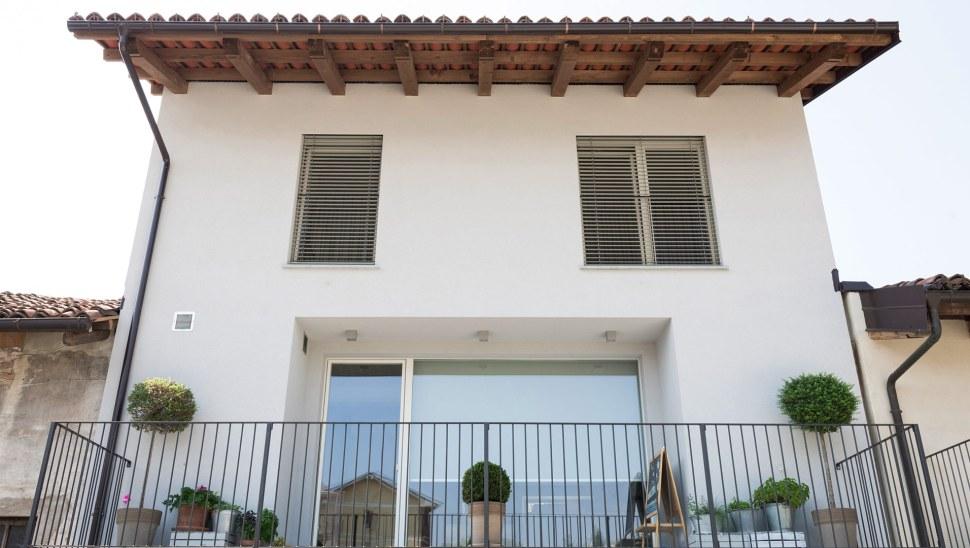Ristrutturazione casa legno xlam Casaclima A - 01 - facciata esterna - Mozzone Building System