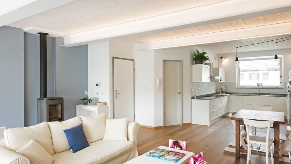 Ristrutturazione casa legno xlam Casaclima A - 04 - interno - sala 02 - Mozzone Building System