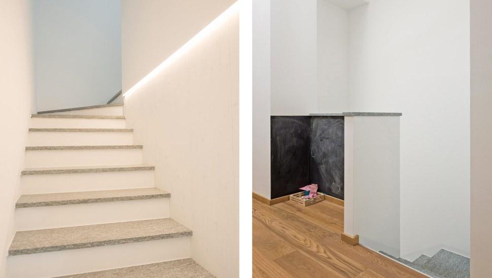 Ristrutturazione casa legno xlam Casaclima A - 07 - interno - scala 01 partenza arrivo - Mozzone Building System