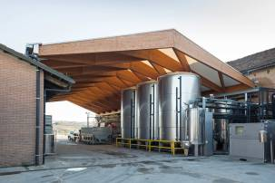 Copertura in legno lamellare cantine-Ceretto-01 - Mozzone Building System