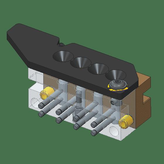 4 cavity hollow point mold brass