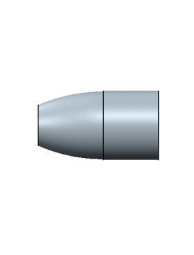 357-147 Flat round nose, flat base, 6cavity mold – no lube groove
