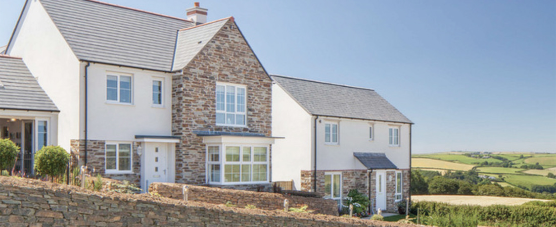 Through Colour Render for Houses in St Martins Looe Cornwall