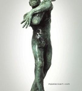 male nude bronze sculpture by artist Manuel Palacio