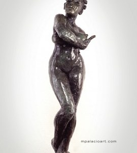 female nude bronze sculpture by artist Manuel Palacio