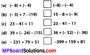 MP Board Class 7th Maths Solutions Chapter 1 Integers Ex 1.1 5