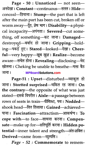 MP Board Class 8th Special English Chapter 7 Nothing You Can't Do 10