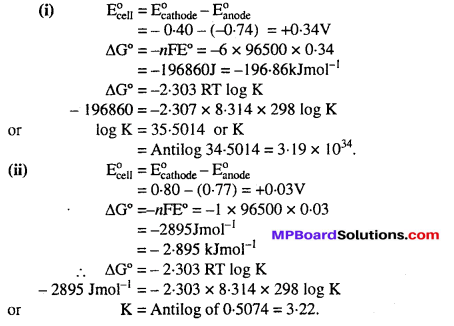 MP Board Class 12th Chemistry Solutions Chapter 3 Electrochemistry 18