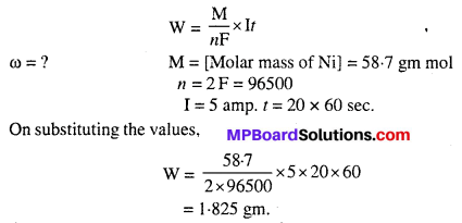 MP Board Class 12th Chemistry Solutions Chapter 3 Electrochemistry 34