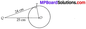 MP Board Class 10th Maths Solutions Chapter 10 Circles Ex 10.2 1