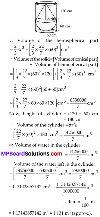 MP Board Class 10th Maths Solutions Chapter 13 Surface Areas and Volumes Ex 13.2 12