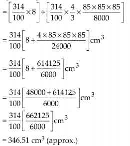 MP Board Class 10th Maths Solutions Chapter 13 Surface Areas and Volumes Ex 13.2 14