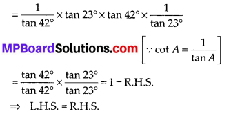 MP Board Class 10th Maths Solutions Chapter 8 Introduction to Trigonometry Ex 8.3 2