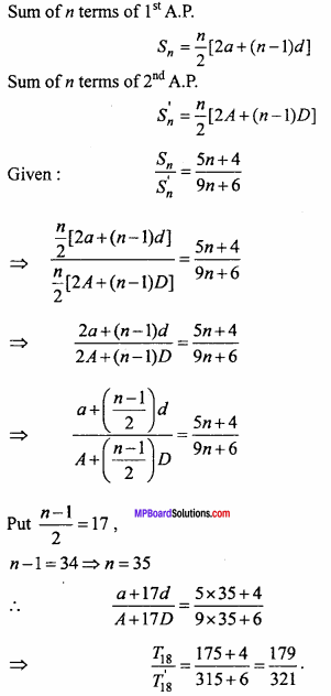 MP Board Class 11th Maths Important Questions Chapter 9 Sequences and Series 16