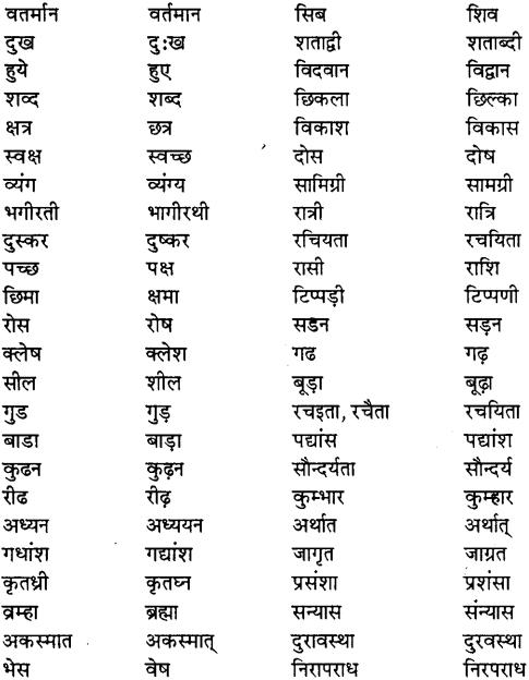 MP Board Class 11th Special Hindi शुद्ध वाक्य रचना सम्बन्धी नियम img-2