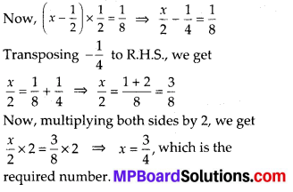 MP Board Class 8th Maths Solutions Chapter 2 Linear Equations in One Variable Ex 2.2 1
