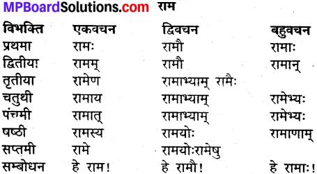 MP Board Class 9th Sanskrit व्याकरण शब्द रूप img-1