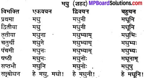 MP Board Class 9th Sanskrit व्याकरण शब्द रूप img-21