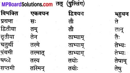 MP Board Class 9th Sanskrit व्याकरण शब्द रूप img-26