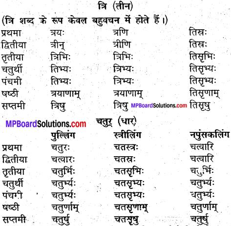 MP Board Class 9th Sanskrit व्याकरण शब्द रूप img-34