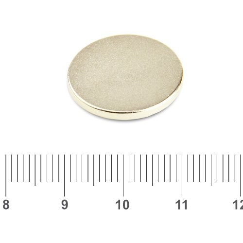 20 x 2mm NdFeB Disc Magnets N45 Nickel