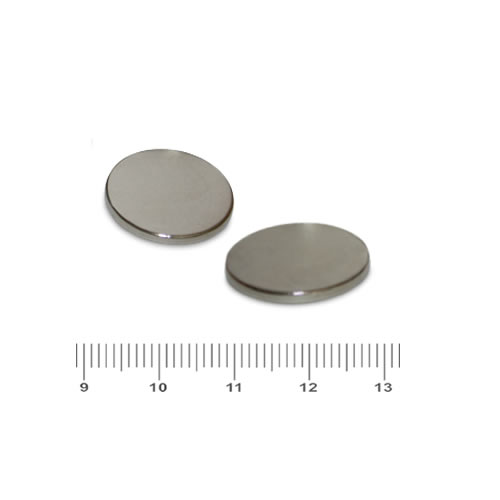 20 x 2mm Neodymium Iron Boron Disc Magnets N52 Nickel
